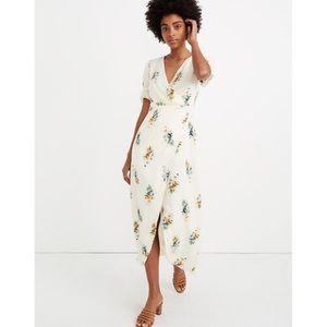 Madewell Ruffle Sleeve Maxi Dress Classic Corsage